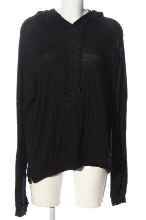 Zara Trafaluc Kapuzensweatshirt schwarz Casual-Look