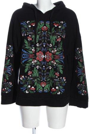 Zara Trafaluc Kapuzensweatshirt Blumenmuster Casual-Look