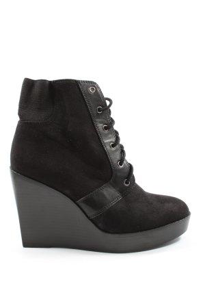 Zara Trafaluc Laarsjes met sleehak zwart elegant