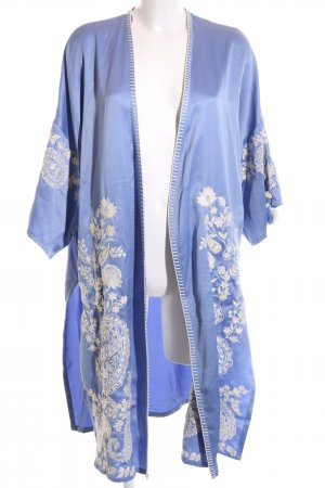 Zara Trafaluc Kimono blue flower pattern casual look