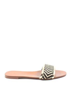 Zara Trafaluc Comfortabele sandalen zwart-wolwit gestreept patroon
