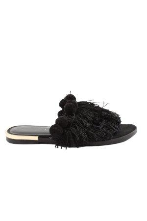 Zara Trafaluc Komfort-Sandalen schwarz Casual-Look