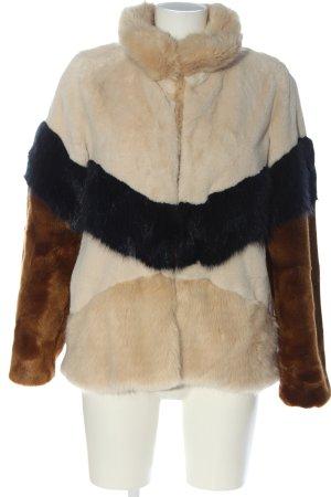 Zara Trafaluc Giacca in eco pelliccia multicolore stile da moda di strada