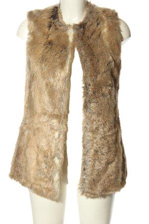 Zara Trafaluc Kurtka ze sztucznym futrem brązowy W stylu casual
