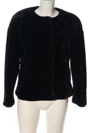 Zara Trafaluc Giacca in eco pelliccia nero stile casual
