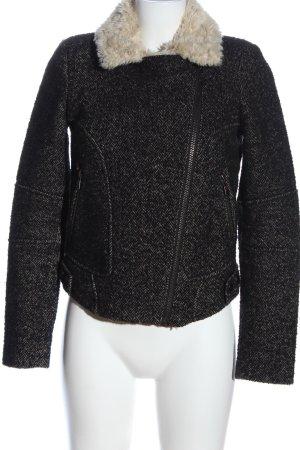 Zara Trafaluc Fake Fur Jacket black casual look