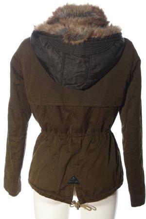 Zara Trafaluc Chaqueta de piel sintética marrón look casual