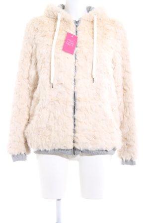 Zara Trafaluc Giacca in eco pelliccia crema stile casual