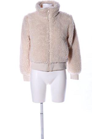 Zara Trafaluc Fake Fur Jacket natural white casual look