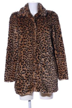 Zara Trafaluc mantel braun-schwarz Animalmuster Casual-Look