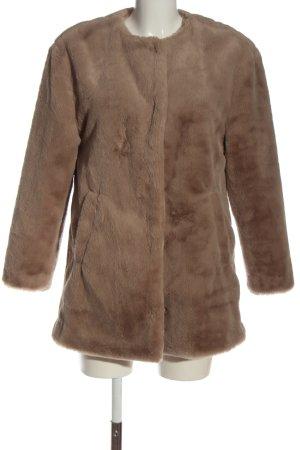 Zara Trafaluc Cappotto in eco pelliccia marrone stile casual