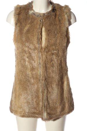 Zara Trafaluc Gilet en fourrure brun style décontracté