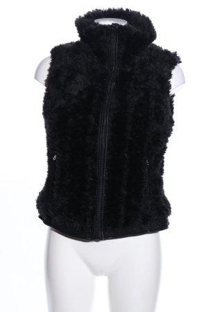 Zara Trafaluc Kunstfellweste schwarz Elegant
