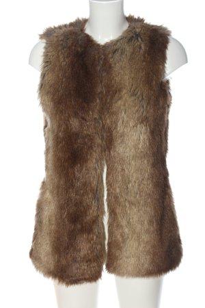 Zara Trafaluc Chaleco de piel sintética marrón look casual