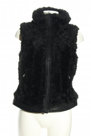 Zara Trafaluc Fake Fur Vest black casual look