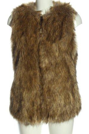 Zara Trafaluc Kamizelka ze sztucznym futrem brązowy W stylu casual