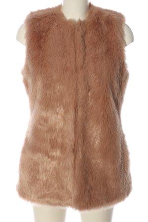Zara Trafaluc Kamizelka ze sztucznym futrem różowy W stylu casual