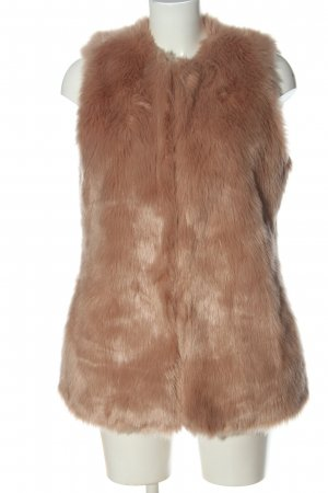 Zara Trafaluc Fake Fur Vest nude casual look
