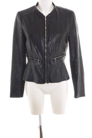 Zara Trafaluc Faux Leather Jacket black casual look