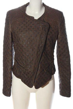 Zara Trafaluc Veste en cuir synthétique bronze style décontracté