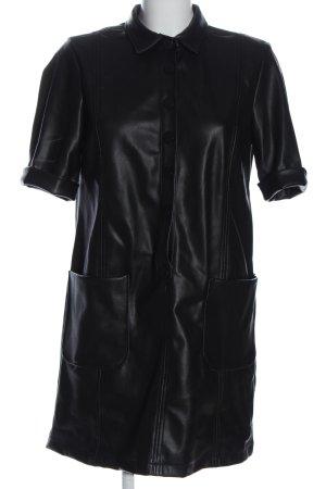 Zara Trafaluc Kunstlederkleid schwarz Casual-Look