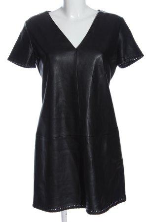 Zara Trafaluc Kunstlederkleid schwarz Elegant