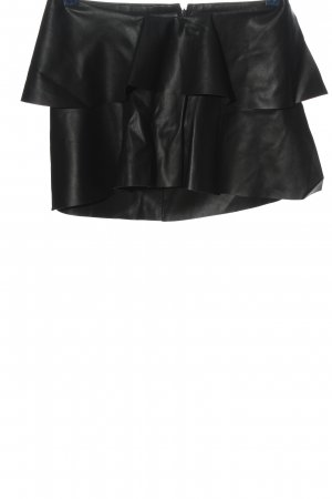 Zara Trafaluc Rok van imitatieleder zwart feest stijl