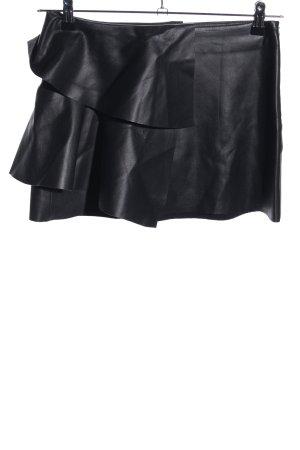 Zara Trafaluc Spódnica z imitacji skóry czarny W stylu casual