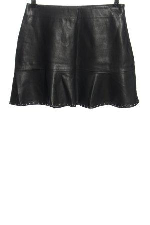 Zara Trafaluc Faux Leather Skirt black casual look