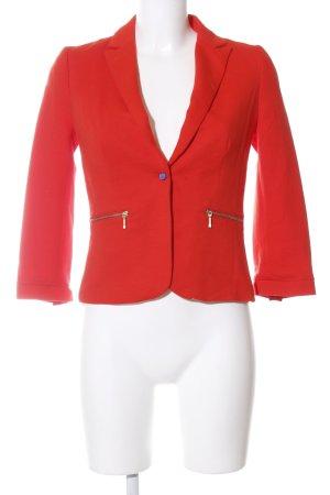Zara Trafaluc Kurz-Blazer rot Casual-Look