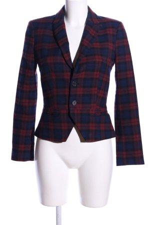 Zara Trafaluc Kurz-Blazer blau-rot Allover-Druck Business-Look