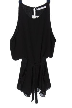 Zara Trafaluc Kurzarm-Bluse schwarz Casual-Look