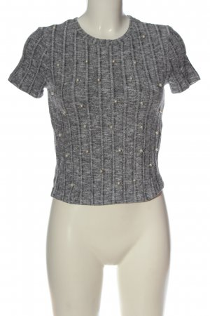 Zara Trafaluc Ribbed Shirt light grey flecked casual look