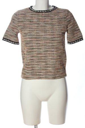 Zara Trafaluc Kurzarm-Bluse pink meliert Casual-Look