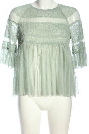 Zara Trafaluc Kurzarm-Bluse grün Casual-Look