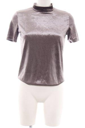 Zara Trafaluc Kurzarm-Bluse bronzefarben Casual-Look