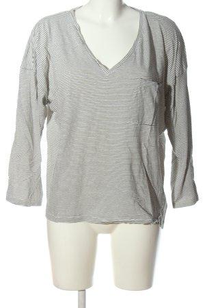 Zara Trafaluc Kurzarm-Bluse weiß-schwarz Streifenmuster Casual-Look
