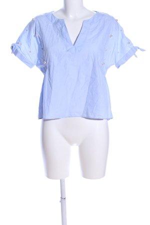 Zara Trafaluc Camicetta a maniche corte blu stile professionale