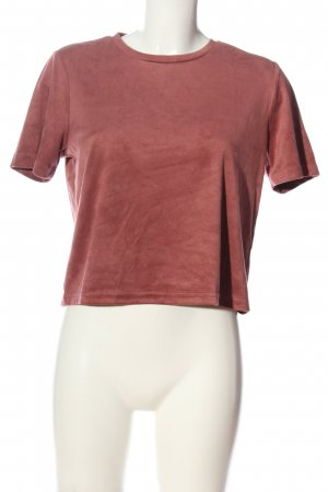 Zara Trafaluc Kurzarm-Bluse rot Casual-Look