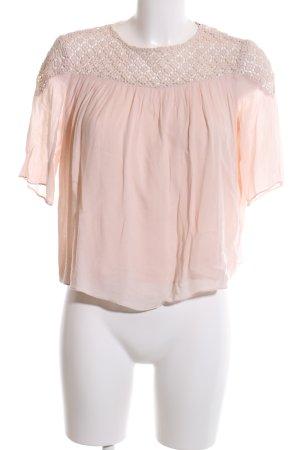 Zara Trafaluc Blouse met korte mouwen licht Oranje casual uitstraling