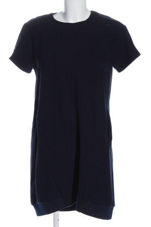 Zara Trafaluc Kurzarmkleid blau meliert Casual-Look