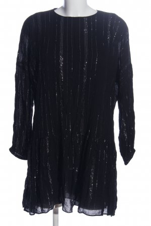 Zara Trafaluc Kurzarmkleid schwarz Streifenmuster Casual-Look
