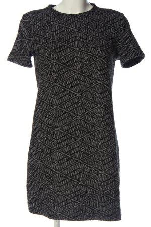 Zara Trafaluc Kurzarmkleid schwarz-weiß Allover-Druck Casual-Look