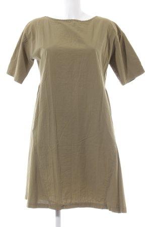 Zara Trafaluc Kurzarmkleid bronzefarben schlichter Stil