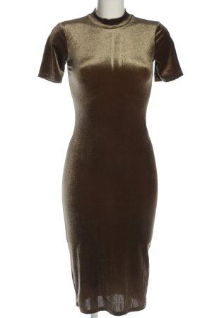 Zara Trafaluc Kurzarmkleid bronzefarben Elegant