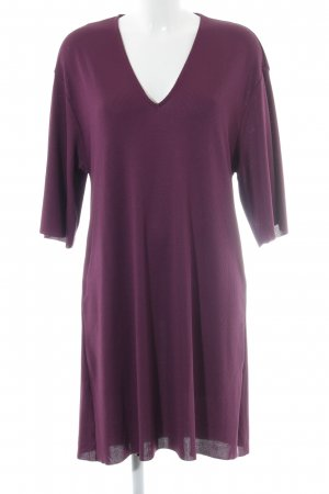 Zara Trafaluc Kurzarmkleid purpur Casual-Look