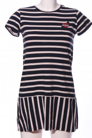 Zara Trafaluc Robe à manches courtes noir-blanc cassé imprimé allover