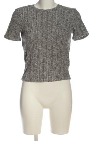 Zara Trafaluc Jersey de manga corta gris claro moteado look casual