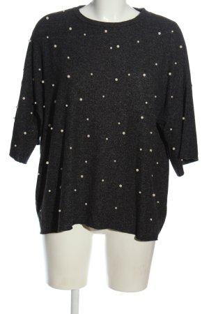 Zara Trafaluc Jersey de manga corta negro moteado look casual