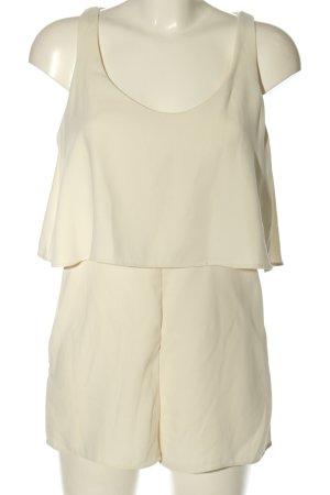 Zara Trafaluc Kurzer Jumpsuit creme Elegant